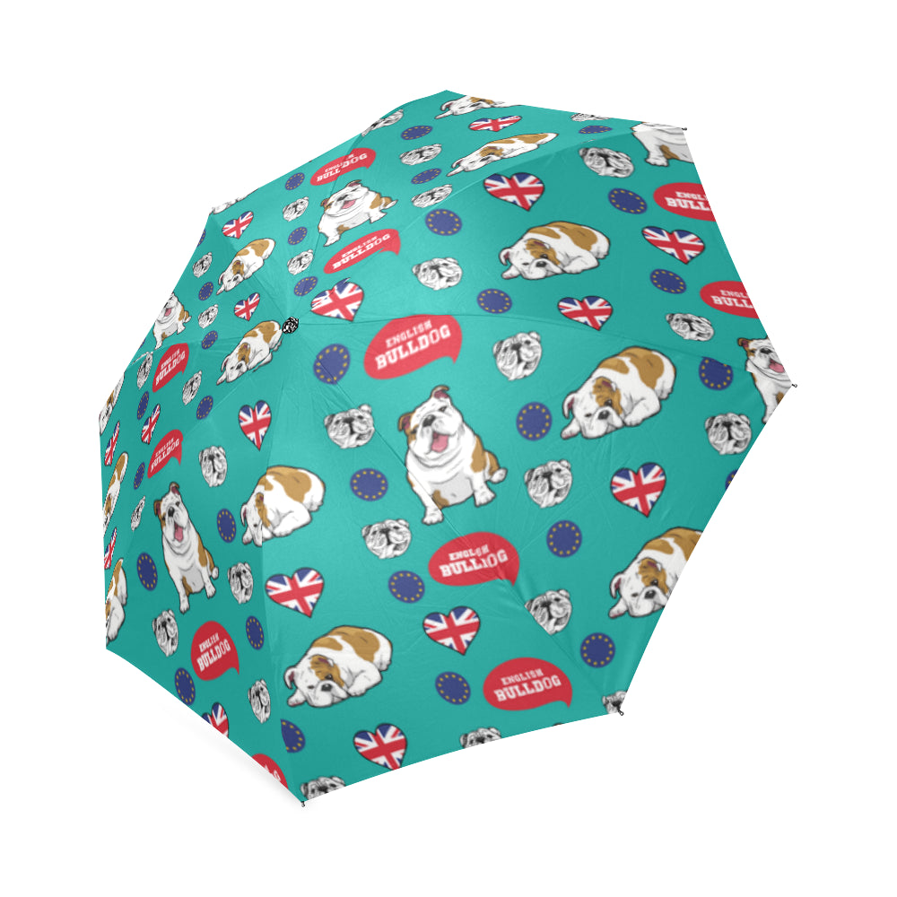 English Bulldog Foldable Umbrella - TeeAmazing