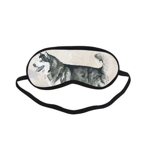 Alaskan Malamute Water Colour Sleeping Mask - TeeAmazing