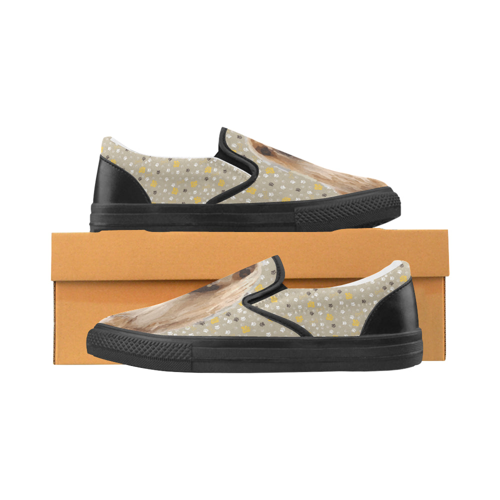 Afghan Hound Black Women's Slip-on Canvas Shoes - TeeAmazing