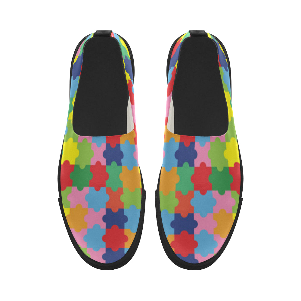 Autism Apus Slip-on Microfiber Women's Shoes - TeeAmazing