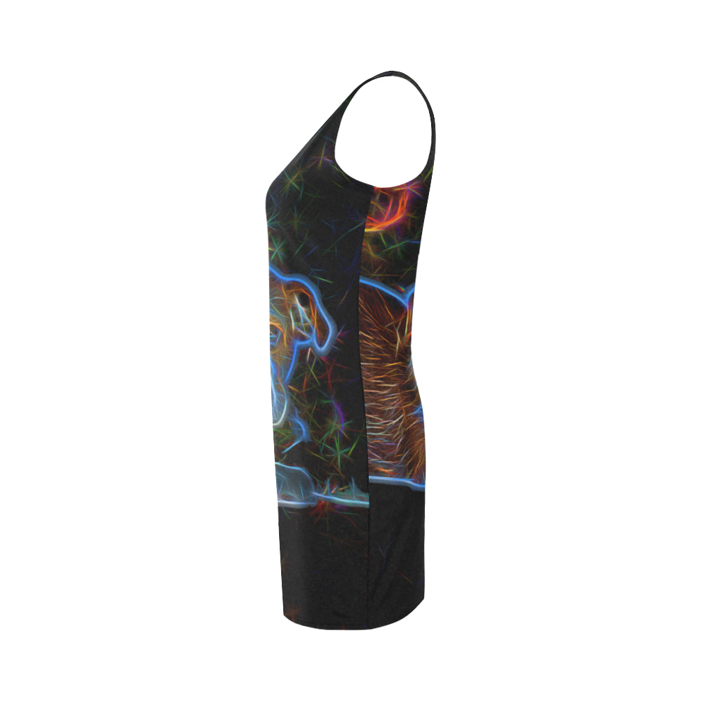 English Bulldog Glow Design 3 Medea Vest Dress - TeeAmazing