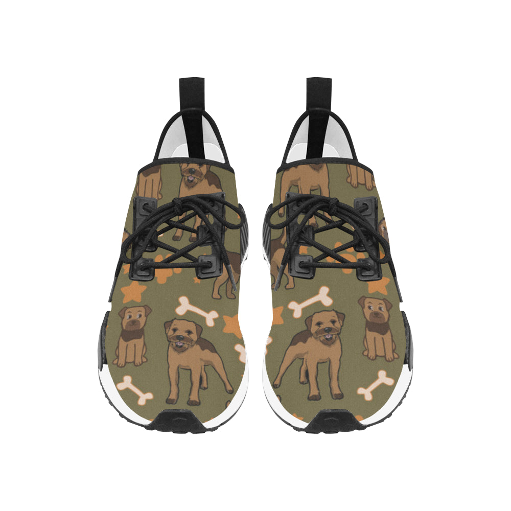 Border Terrier Pattern Men's Draco Running Shoes - TeeAmazing