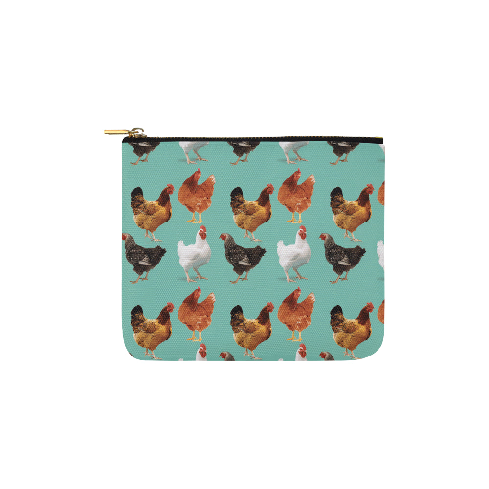 Chicken Pattern Carry-All Pouch 6x5 - TeeAmazing