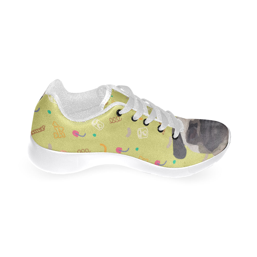 Pug White Sneakers Size 13-15 for Men - TeeAmazing