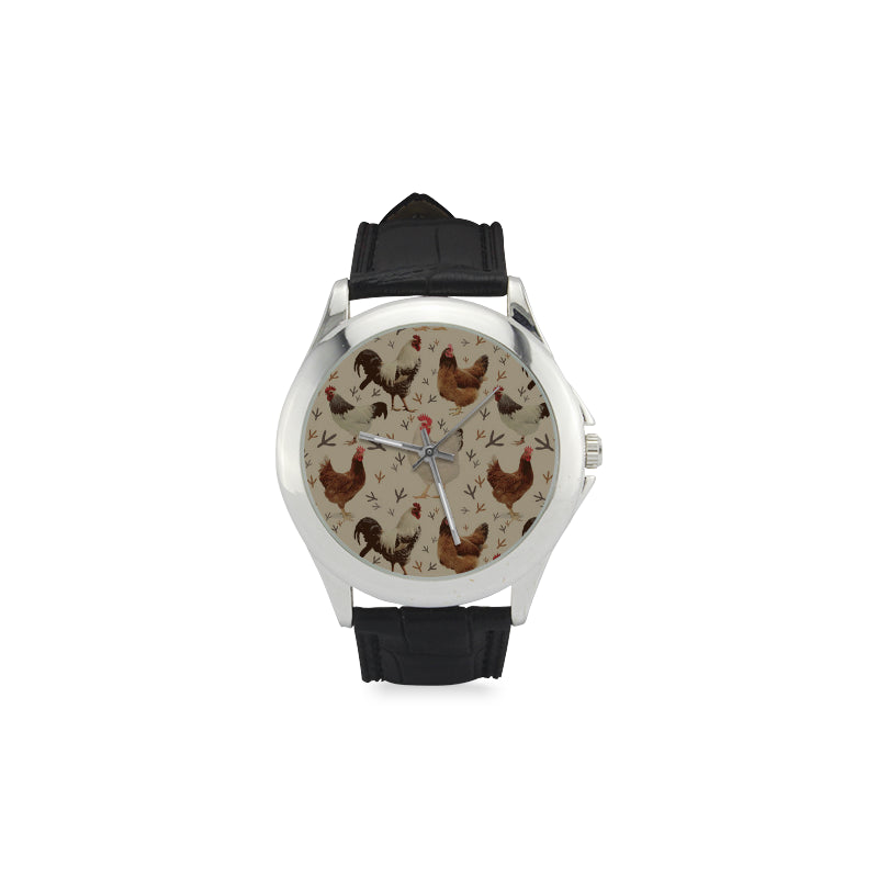 Chicken Women's Classic Leather Strap Watch - TeeAmazing