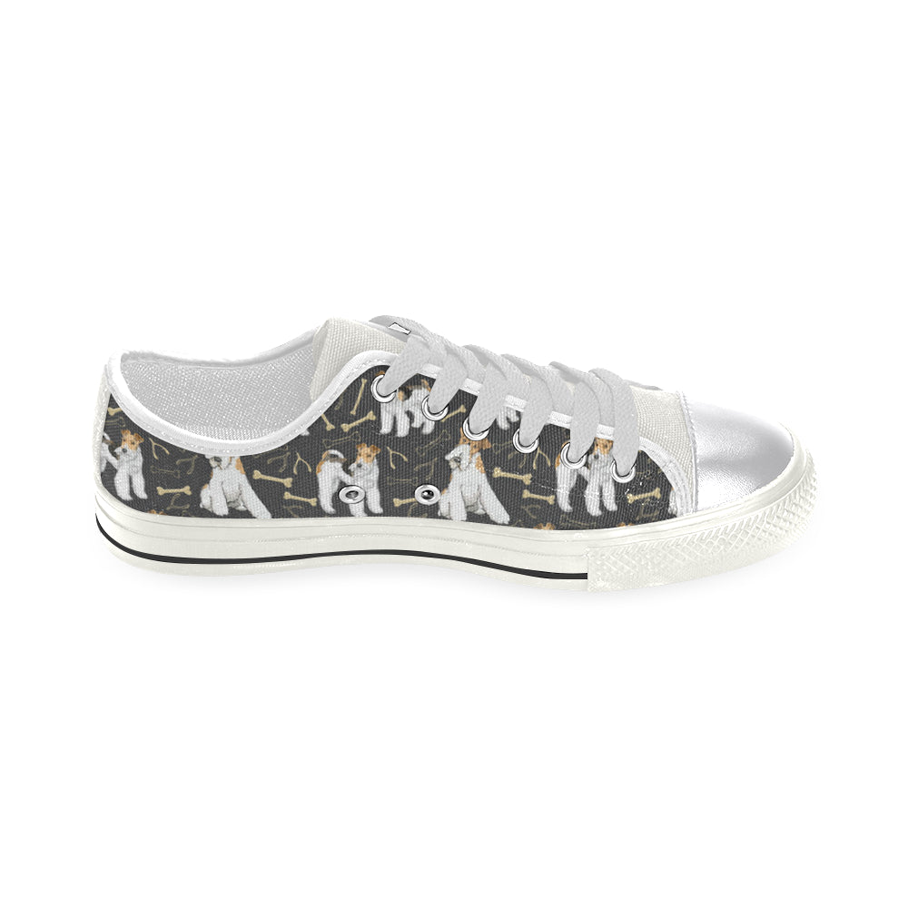 Wire Hair Fox Terrier White Women's Classic Canvas Shoes - TeeAmazing