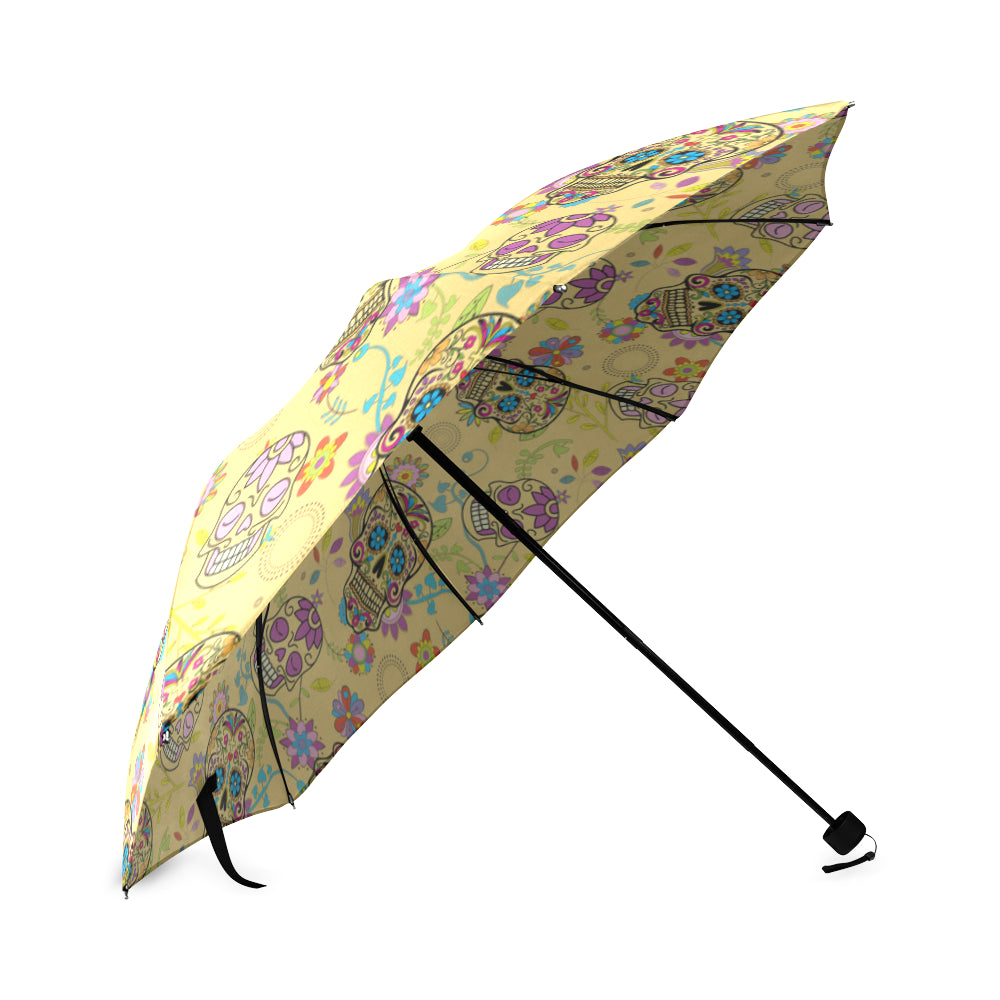 Sugar Skull Foldable Umbrella - TeeAmazing