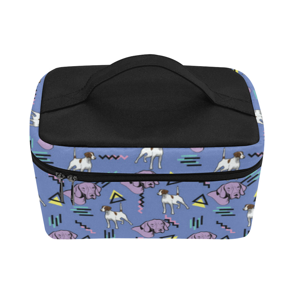German Shorthaired Pointer Pattern Cosmetic Bag/Large - TeeAmazing
