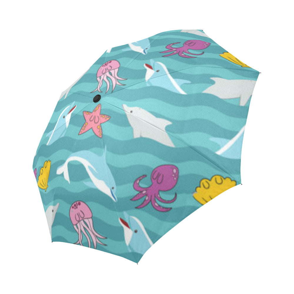 Dolphin Auto-Foldable Umbrella - TeeAmazing