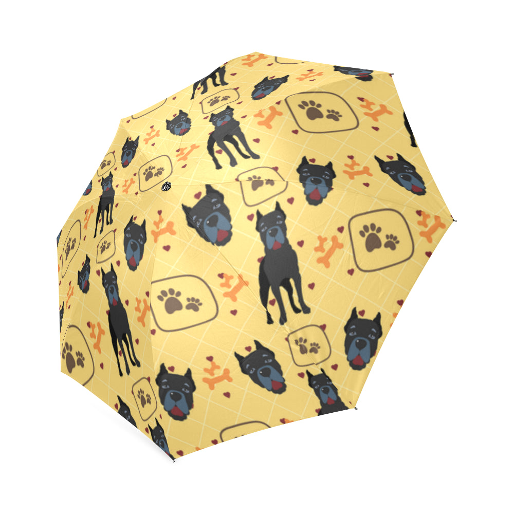 Cane Corso Pattern Foldable Umbrella - TeeAmazing