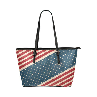 4th July V2 Leather Tote Bag/Small (Model 1651) - TeeAmazing