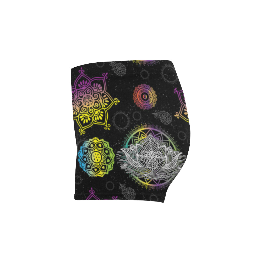 Lotus and Mandalas Briseis Skinny Shorts - TeeAmazing