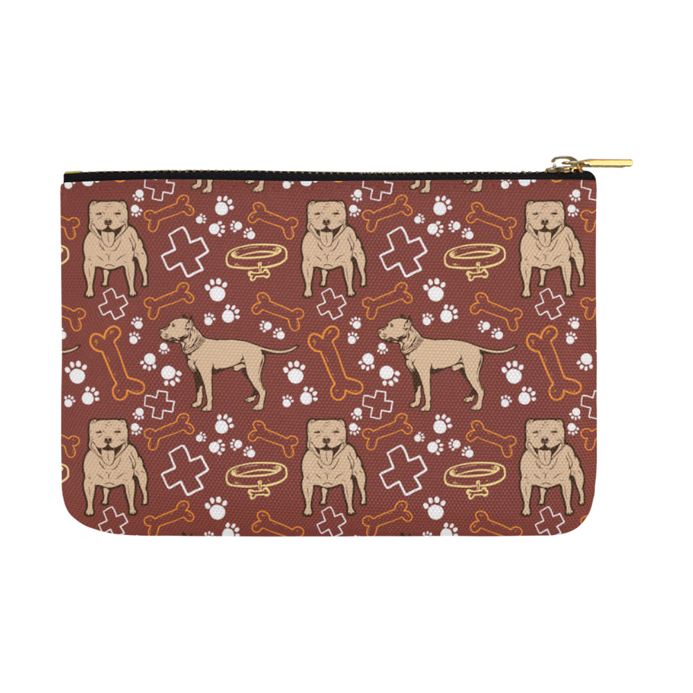 Staffordshire Bull Terrier Pettern Carry-All Pouch 12.5x8.5 - TeeAmazing