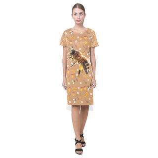 Queen Bee Short Sleeves Casual Dress - TeeAmazing