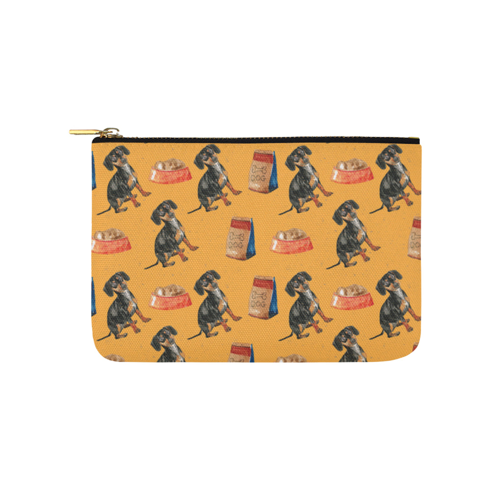Dachshund Water Colour Pattern No.1 Carry-All Pouch 9.5x6 - TeeAmazing