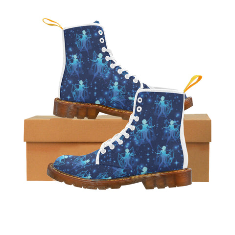 Sailor Mercury White Martin Boots For Women - TeeAmazing