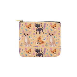 Chihuahua Flower Carry-All Pouch 6''x5'' - TeeAmazing
