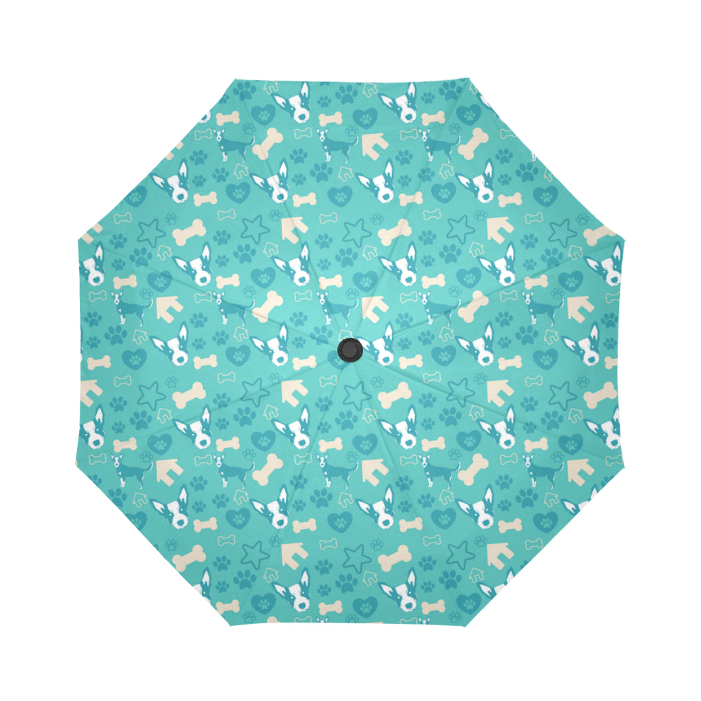 Australian Cattle Dog Pattern Auto-Foldable Umbrella - TeeAmazing