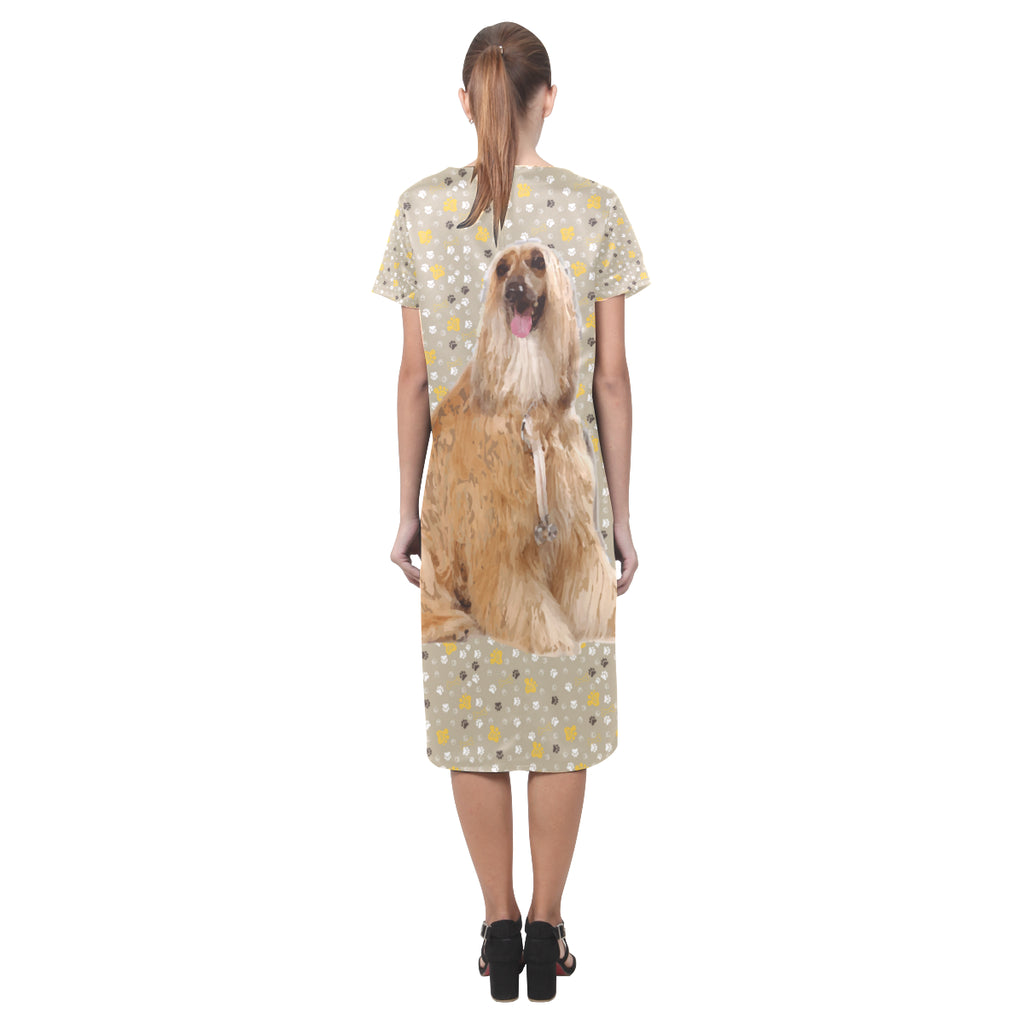 Afghan Hound Short Sleeves Casual Dress - TeeAmazing