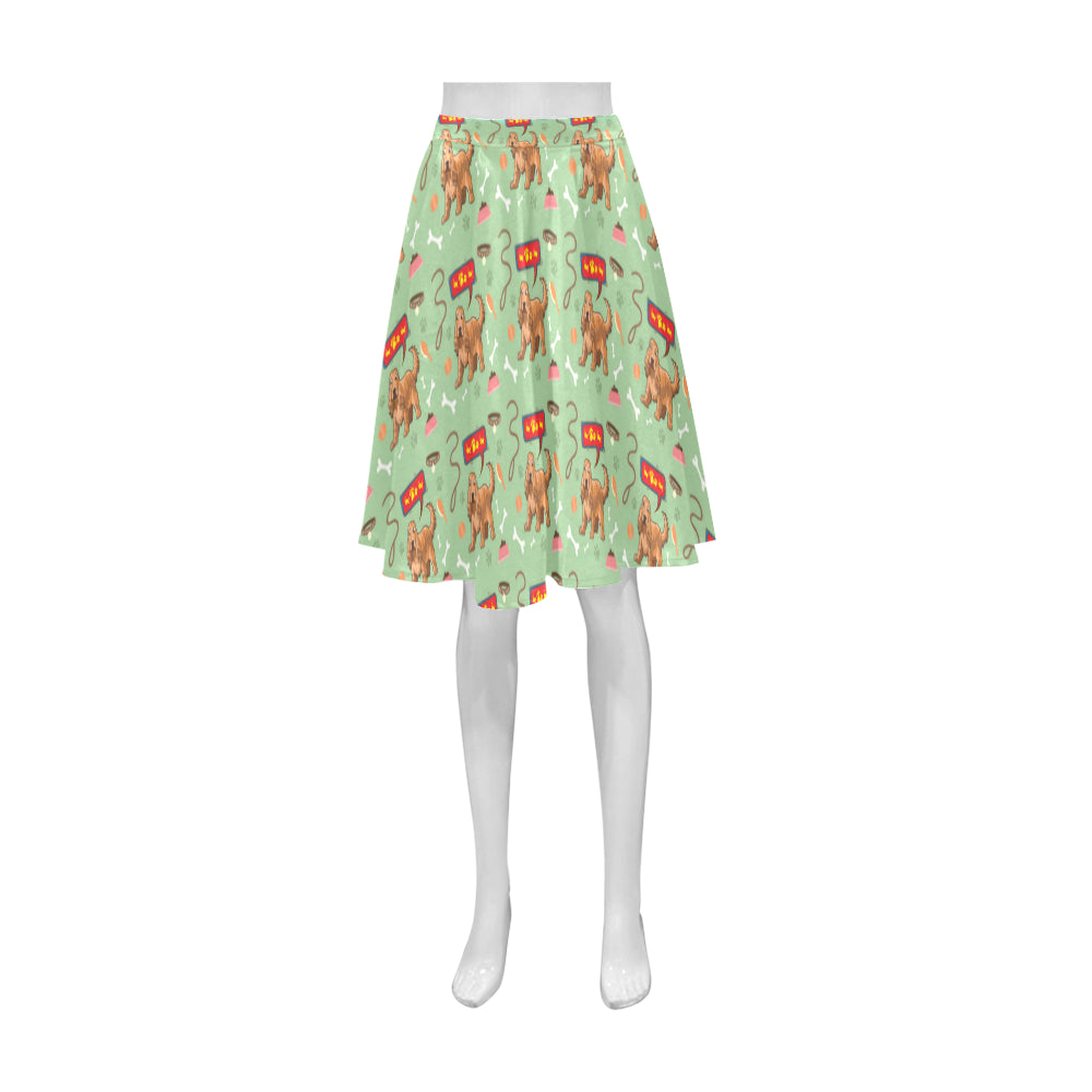 American Cocker Spaniel Pattern Athena Women's Short Skirt - TeeAmazing