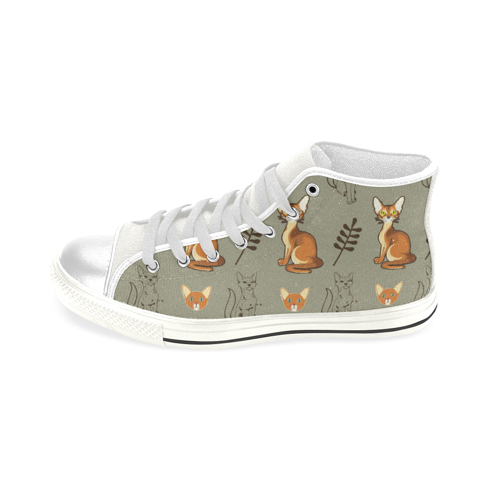 Abyssinian White Men's Classic High Top Canvas Shoes - TeeAmazing