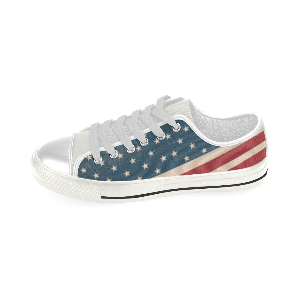 4th July V2 White Men's Classic Canvas Shoes - TeeAmazing