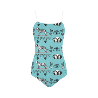 Dalmatian Pattern Strap Swimsuit - TeeAmazing