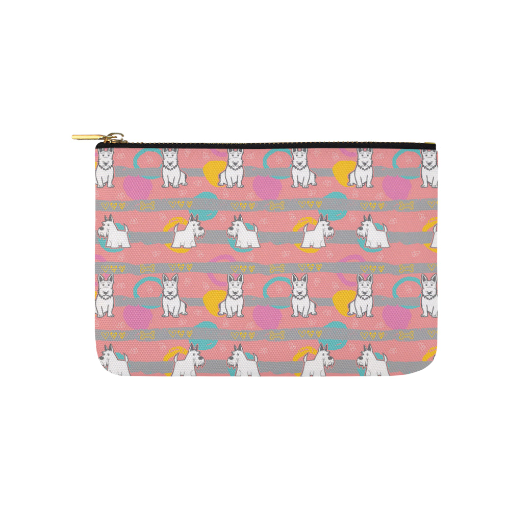 Scottish Terrier Pattern Carry-All Pouch 9.5x6 - TeeAmazing