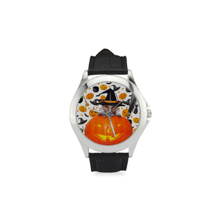 Jack Russell Halloween Women's Classic Leather Strap Watch - TeeAmazing