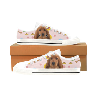 English Cocker Spaniel White Men's Classic Canvas Shoes/Large Size - TeeAmazing
