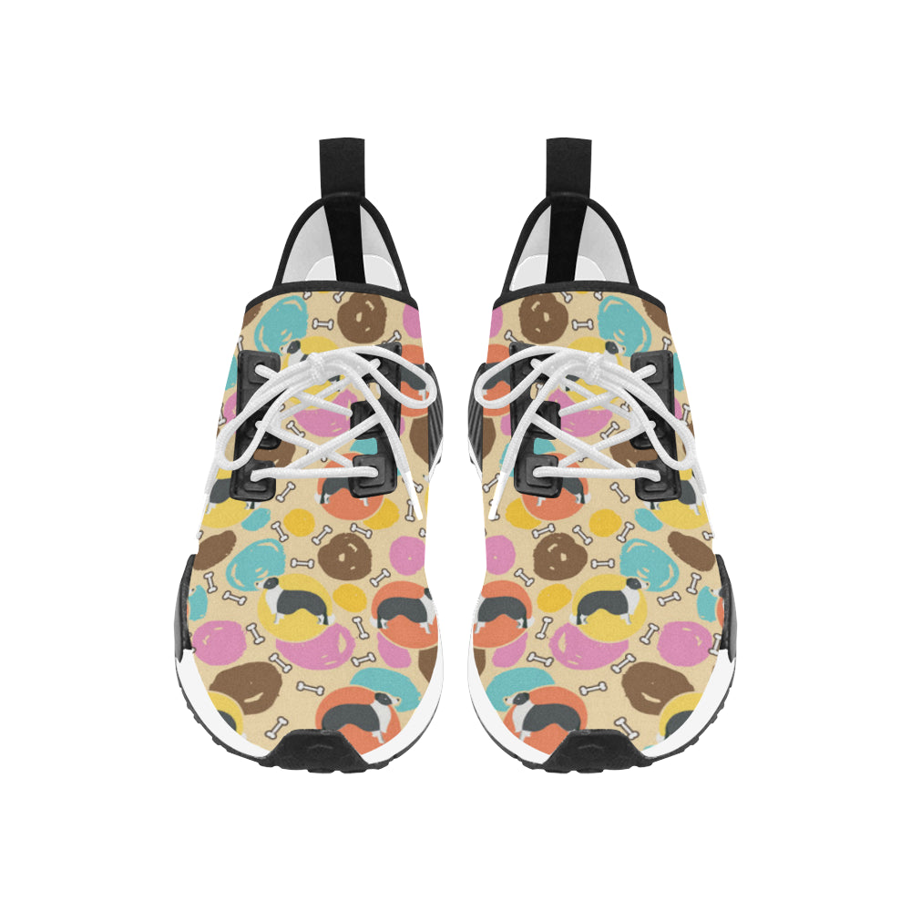 Border Collie Pattern Women's Draco Running Shoes - TeeAmazing