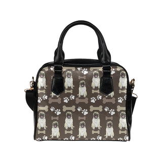 Pug Water Colour Pattern No.1 Shoulder Handbag - TeeAmazing