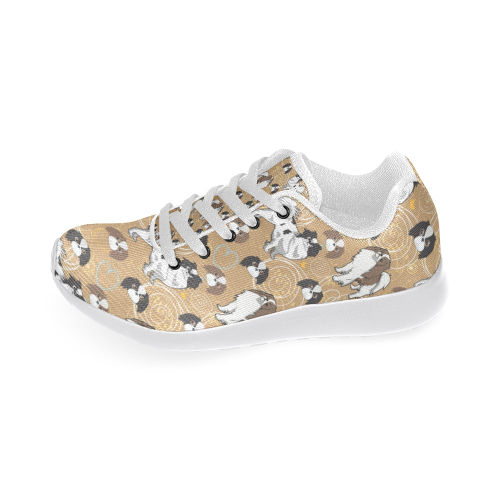 Japanese Chin White Sneakers for Women - TeeAmazing