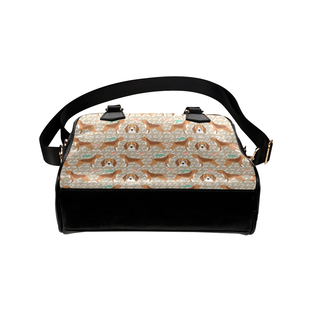 Beagle Pattern Shoulder Handbag - TeeAmazing
