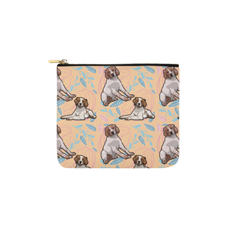 Brittany Spaniel Flower Carry-All Pouch 6''x5'' - TeeAmazing