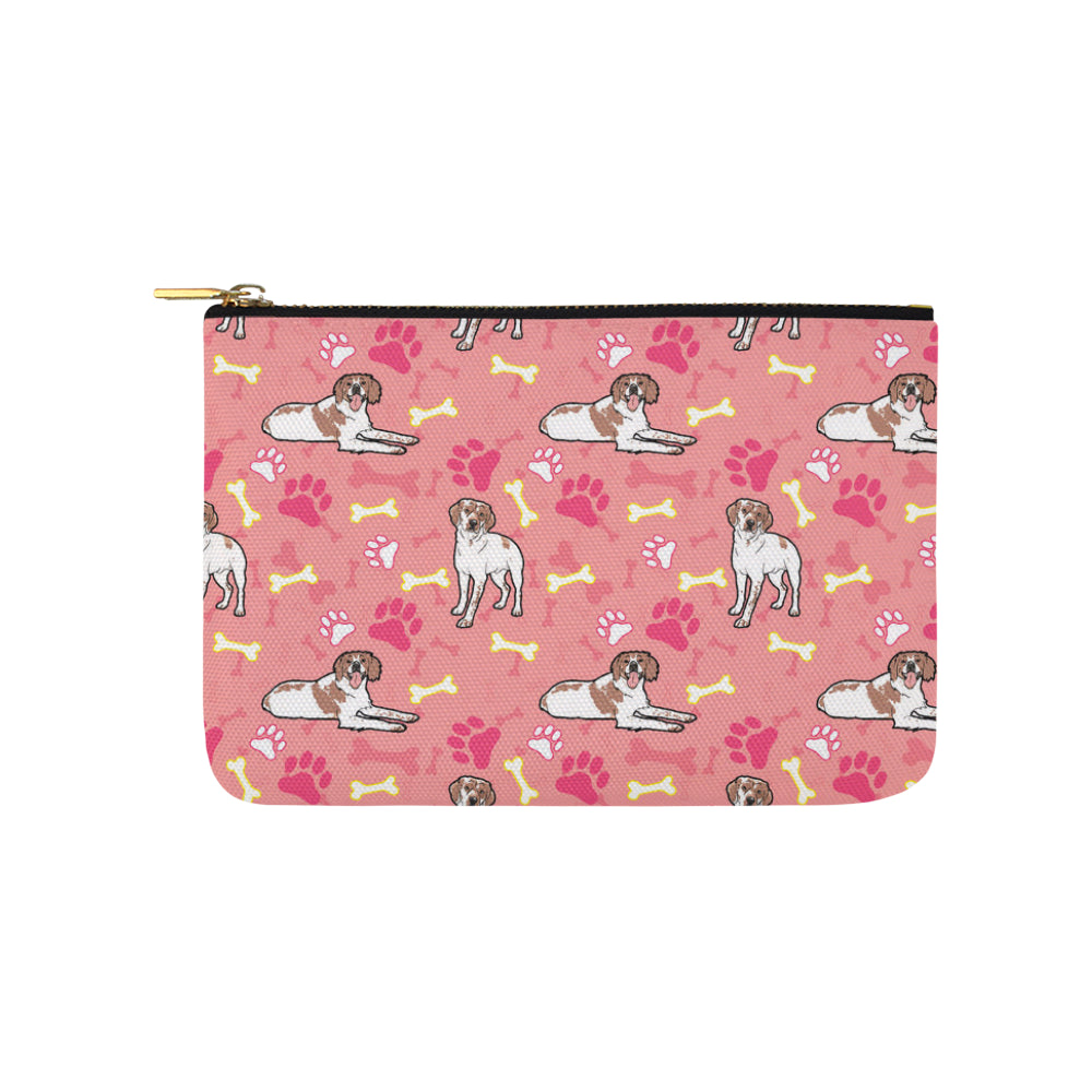 Brittany Spaniel Pattern Carry-All Pouch 9.5x6 - TeeAmazing