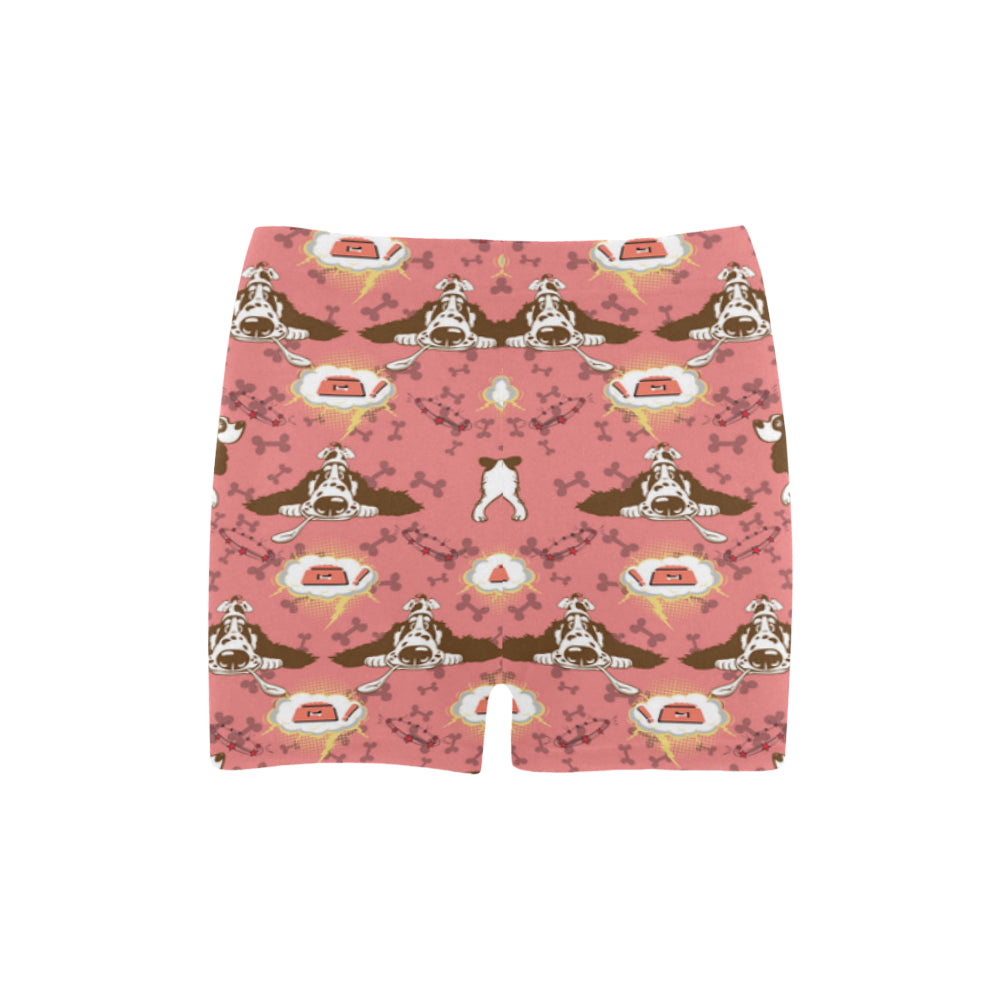 English Cocker Spaniel Pattern Briseis Skinny Shorts - TeeAmazing