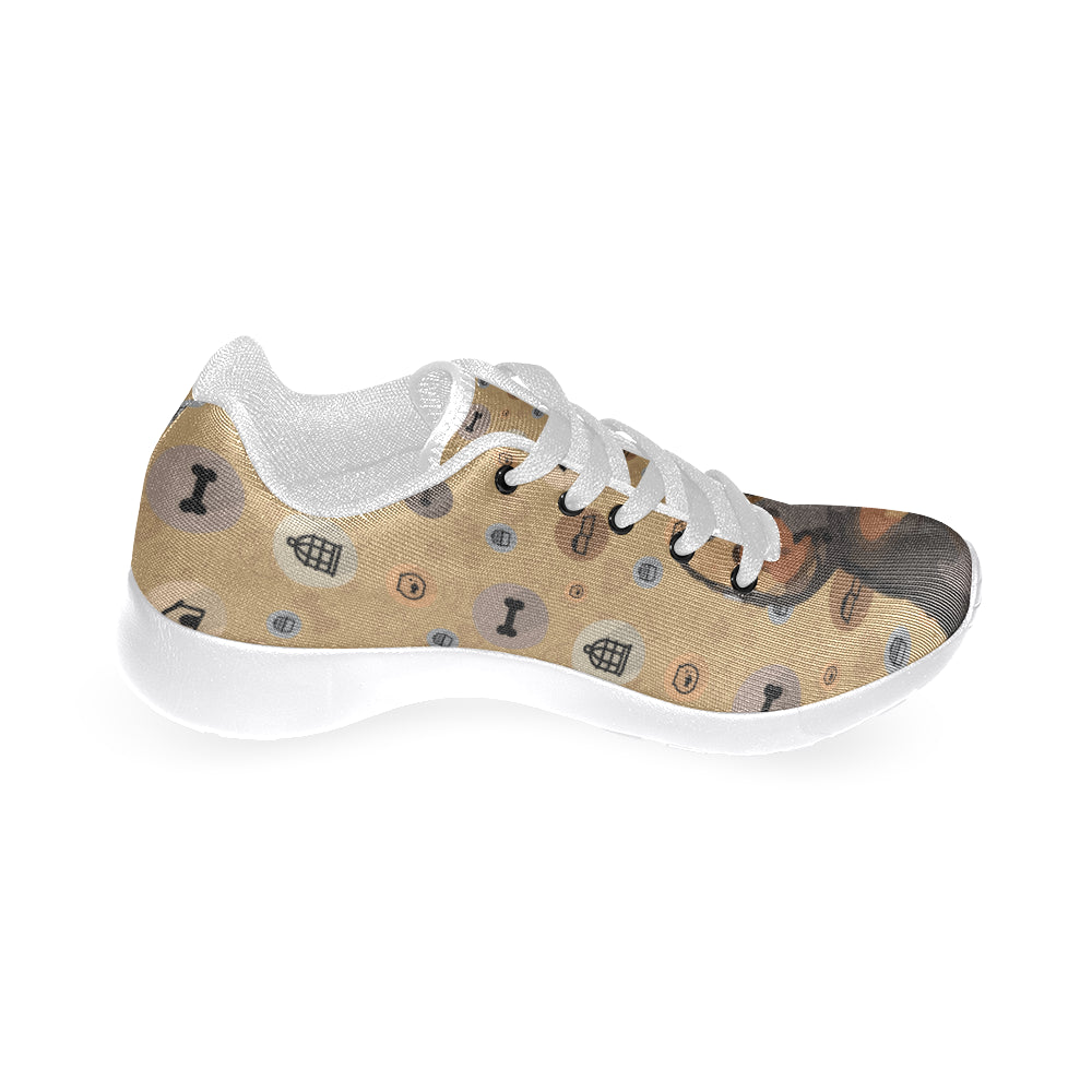 Miniature Pinscher Dog White Sneakers for Women - TeeAmazing