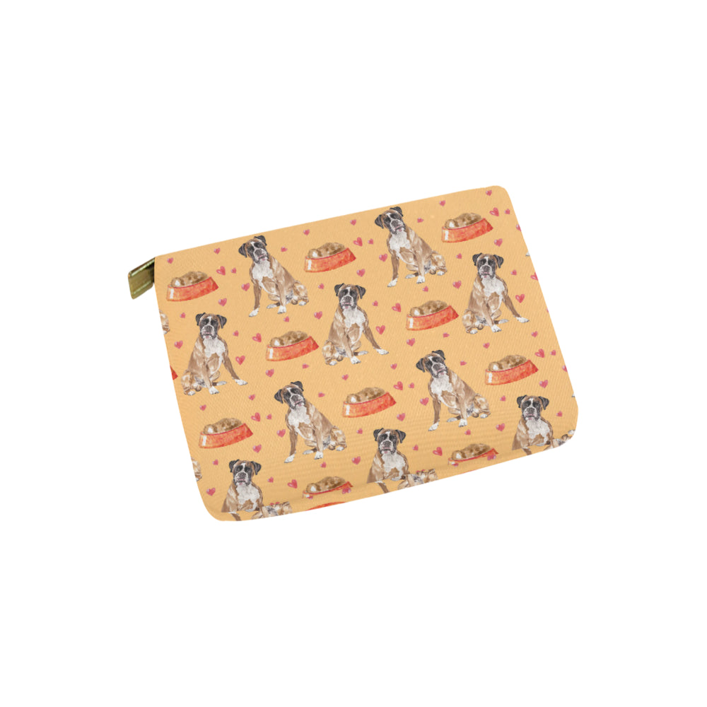 Boxer Water Colour Pattern No.1 Carry-All Pouch 6x5 - TeeAmazing
