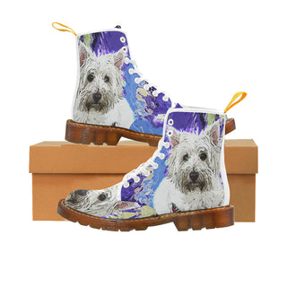 West Highland White Terrier White Boots For Men - TeeAmazing