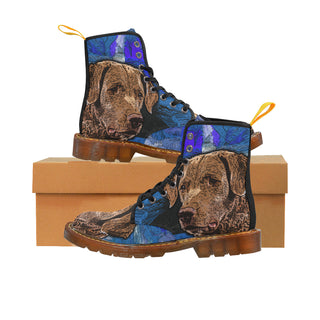 Chesapeake Bay Retriever Black Boots For Women - TeeAmazing