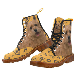 Norwich Terrier Dog Black Boots For Men - TeeAmazing