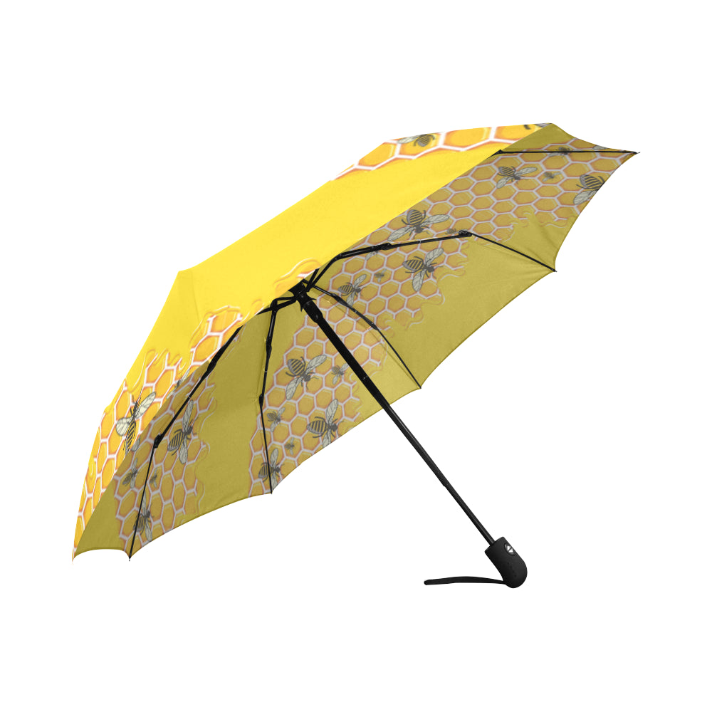 Bee Pattern Auto-Foldable Umbrella - TeeAmazing