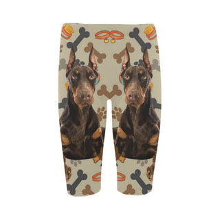 Doberman Dog Hestia Cropped Leggings (Model L03) - TeeAmazing