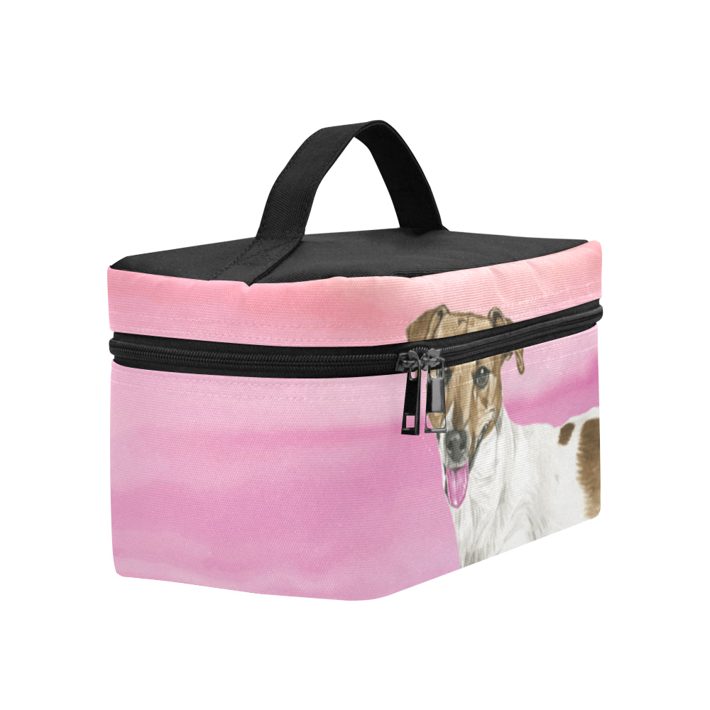 Jack Russell Terrier Water Colour No.1 Cosmetic Bag/Large - TeeAmazing