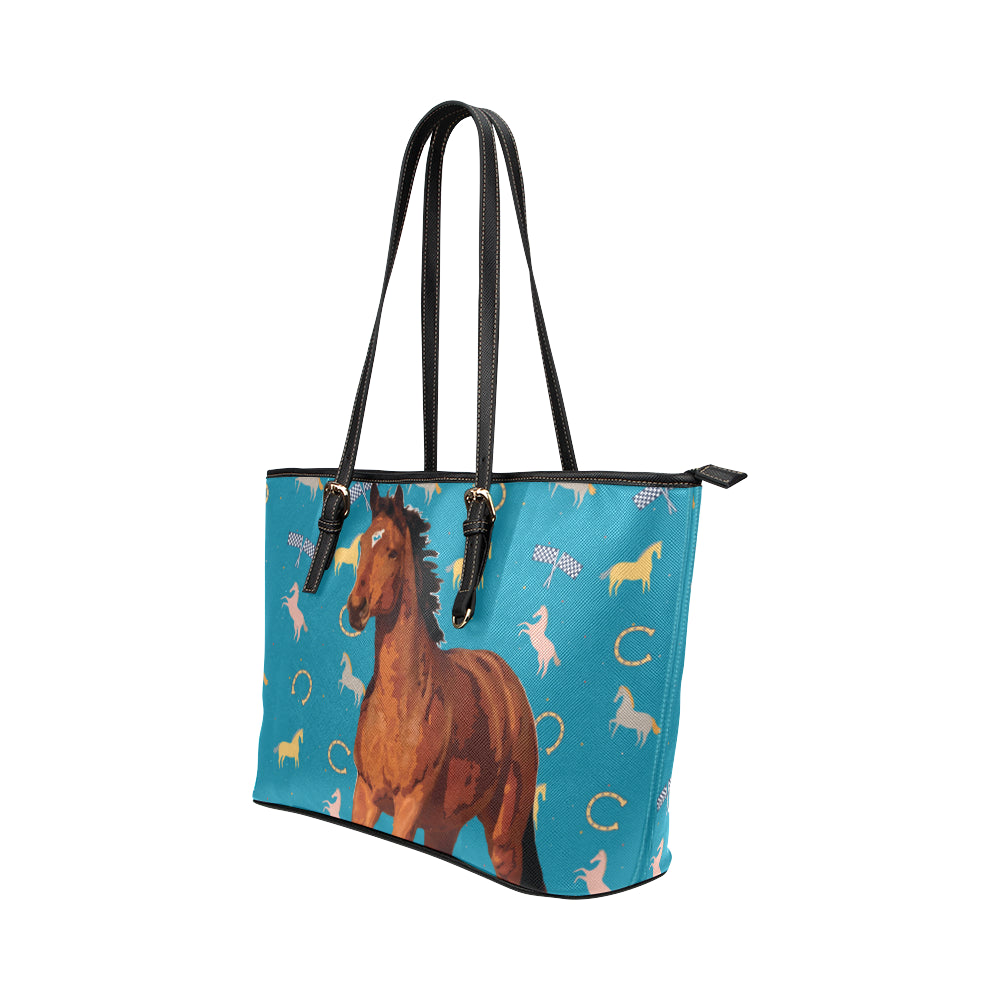 Horse Leather Tote Bag/Small - TeeAmazing