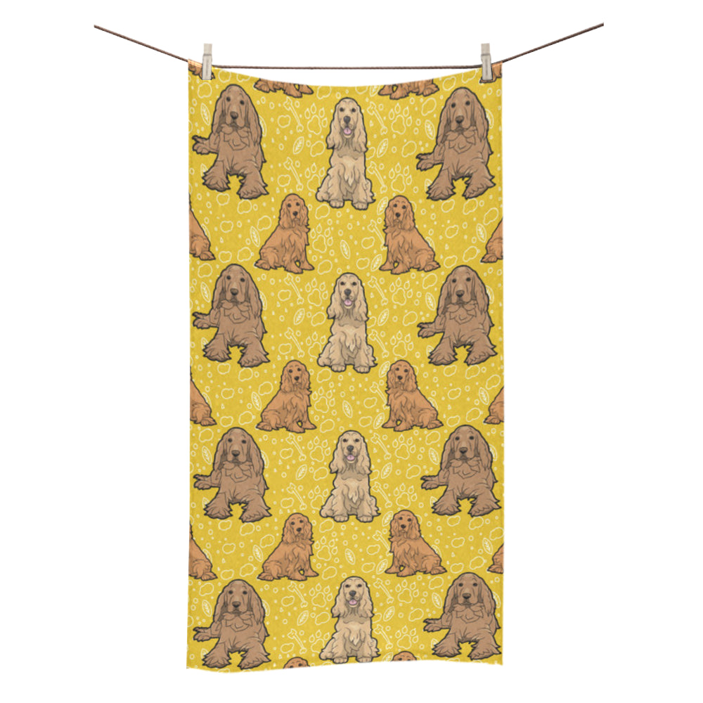 "Cocker Spaniel Bath Towel 30""x56"" - TeeAmazing"
