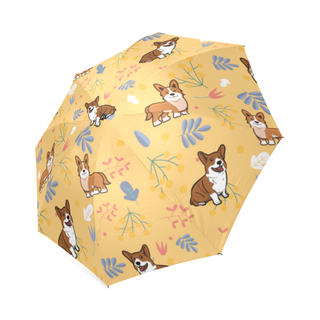 Corgi Flower Foldable Umbrella - TeeAmazing