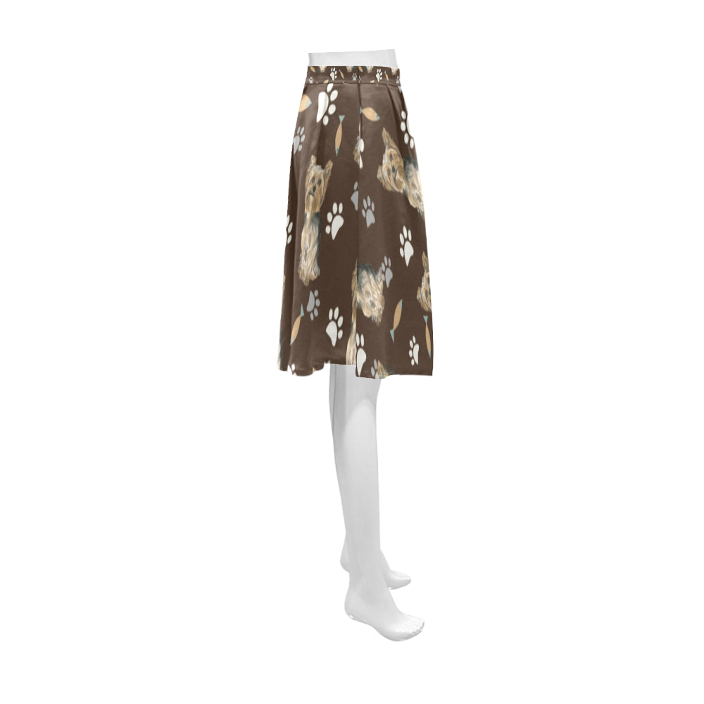 Yorkshire Terrier Water Colour Pattern No.1 Athena Women's Short Skirt - TeeAmazing