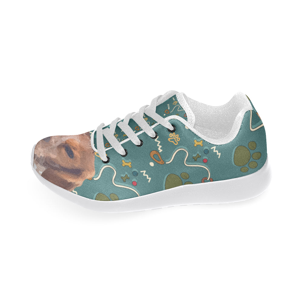 Brittany Spaniel Dog White Sneakers for Women - TeeAmazing